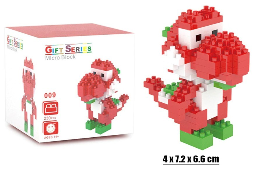 Lego Yoshi Mini 230pcs Brinquedo Blocos De Montagem R 35 00 Em