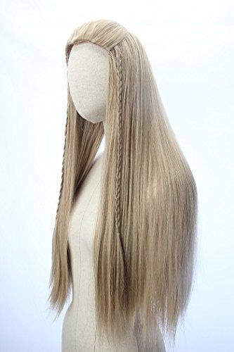 legolas pelucas rizadas largas trenzas
