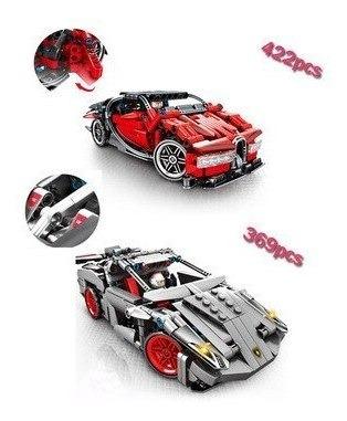 legos de colección autos 369pcs lamborghini - bucatti - porc