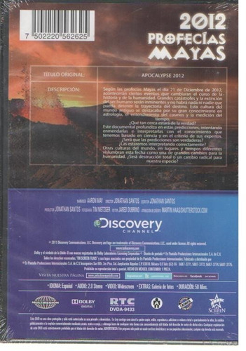legoz zqz 2012 profecias mayas - dvd - fisico - ref - 926