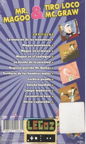 legoz zqz dibujos animados mr magoo v dvd -fisico - ref -510