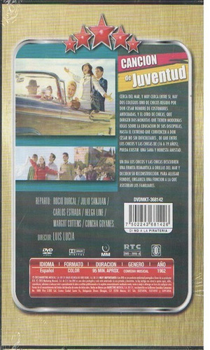 legoz zqz dvd - cancion de juventud roci- sellado- ref- 1052