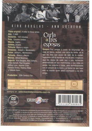 legoz zqz dvd - carta a tres esposas - sellado - ref- 859