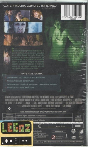 legoz zqz dvd-cuarentena- fisico ref - 903