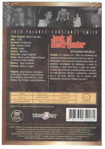 legoz zqz dvd - jack el destripador - sellado - ref-841