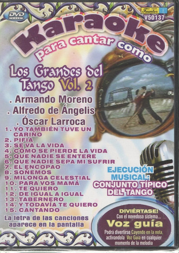 legoz zqz dvd- karaoke grandes del tango- fisico - ref 697