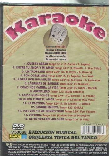 legoz zqz dvd - karaoke tango - sellado - ref- 1067