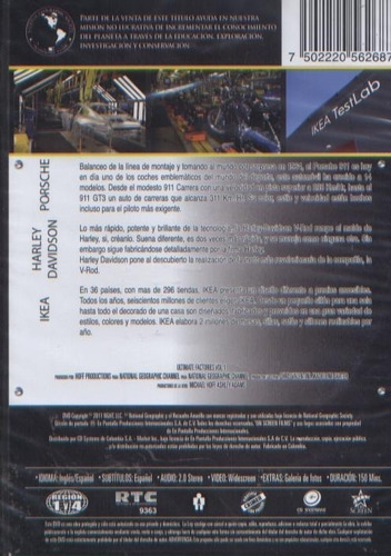 legoz zqz dvd - megafabricas porsche ike-sellado - ref- 1130