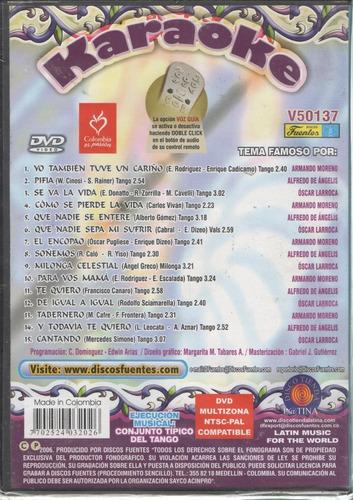 legoz zqz karaoke grandes del tango- dvd - sellado - ref 697