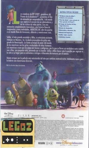 legoz zqz monsters inc - sellado dvd ref - 368