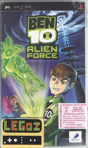 legoz zqz psp ben 10. alien force sellado - ref 781