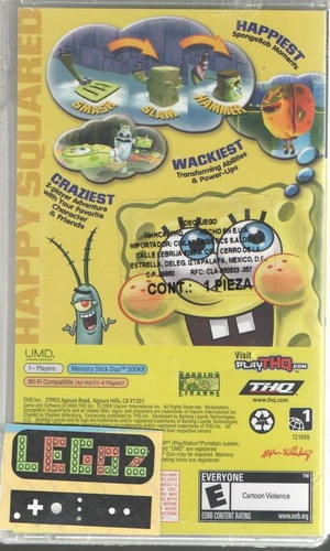 legoz zqz psp sponge bob truth or square- sellado ref - 040