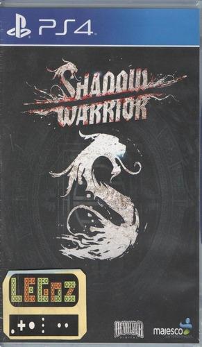 legoz zqz shadow warrior - ps4 disco sellado - ref 1187