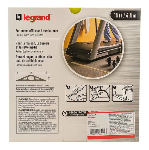 legrand - wiremold cdg-15 corduct overfloor cable protector-