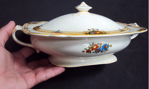 legumeira antiga porcelana inglesa grindley windsor flores