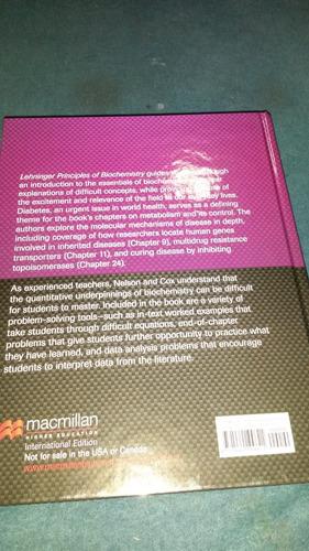 lehninger principles of biochemistry 6th edition,