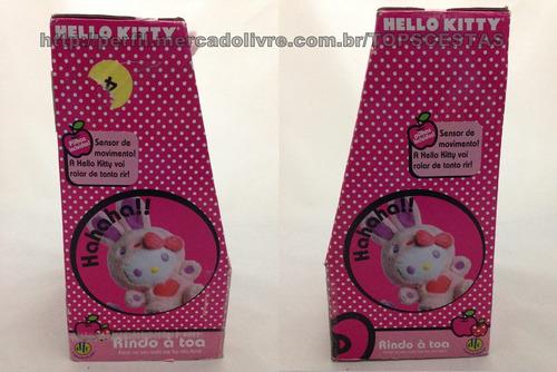 leia o anúncio! pelúcia musical hello kitty rindo à toa dtc