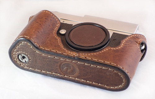 leica m film & digital telemetrica estuche cámara 100% cuero