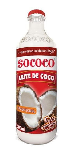 leite de coco sococo 500ml  kit com 6 unidades