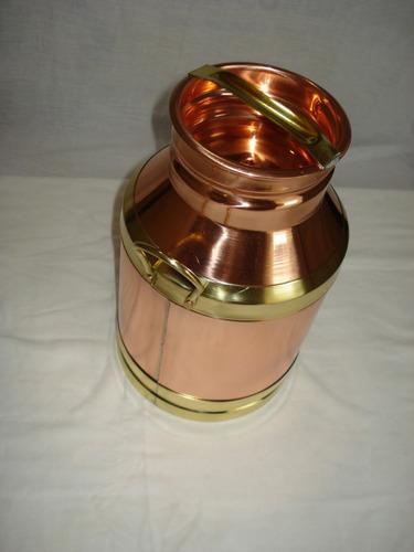 leiteira cobre p  n º1 detalhe em latão metal arte