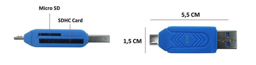 leitor adaptador usb mini/usb cartão memória sd sdhc celular
