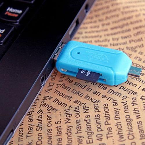 leitor cartão universal sd micro sd usb otg celular pc note