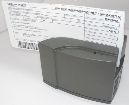 leitor código barra automático tl840 cheque, contas usb