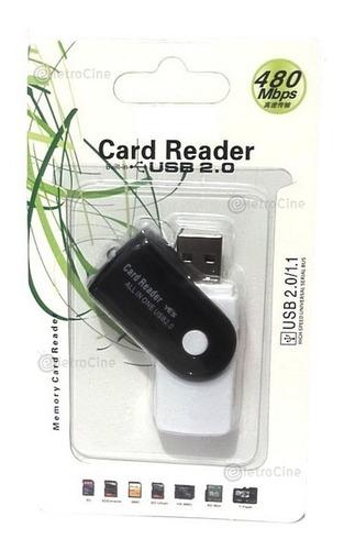 leitor de cartao memoria usb 4 em 1 adaptador gravador micro sd sdhc m2 pro duo 480 mbps p/ windows 7 8 10 notebook pc