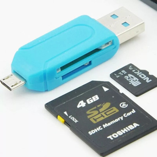 leitor de cartão micro sd usb otg celular tablet pc note top