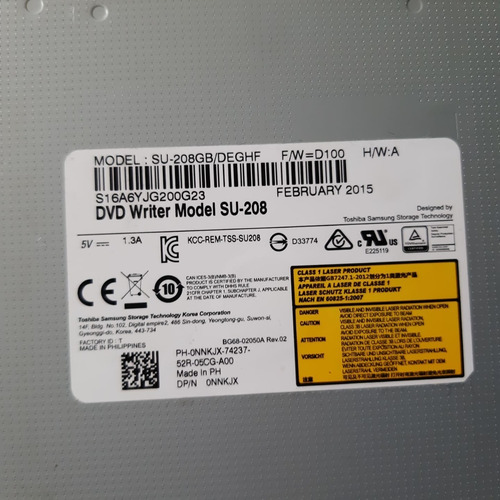 leitor de cd/dvd notebook dell inspiron 14 3000 / su-208