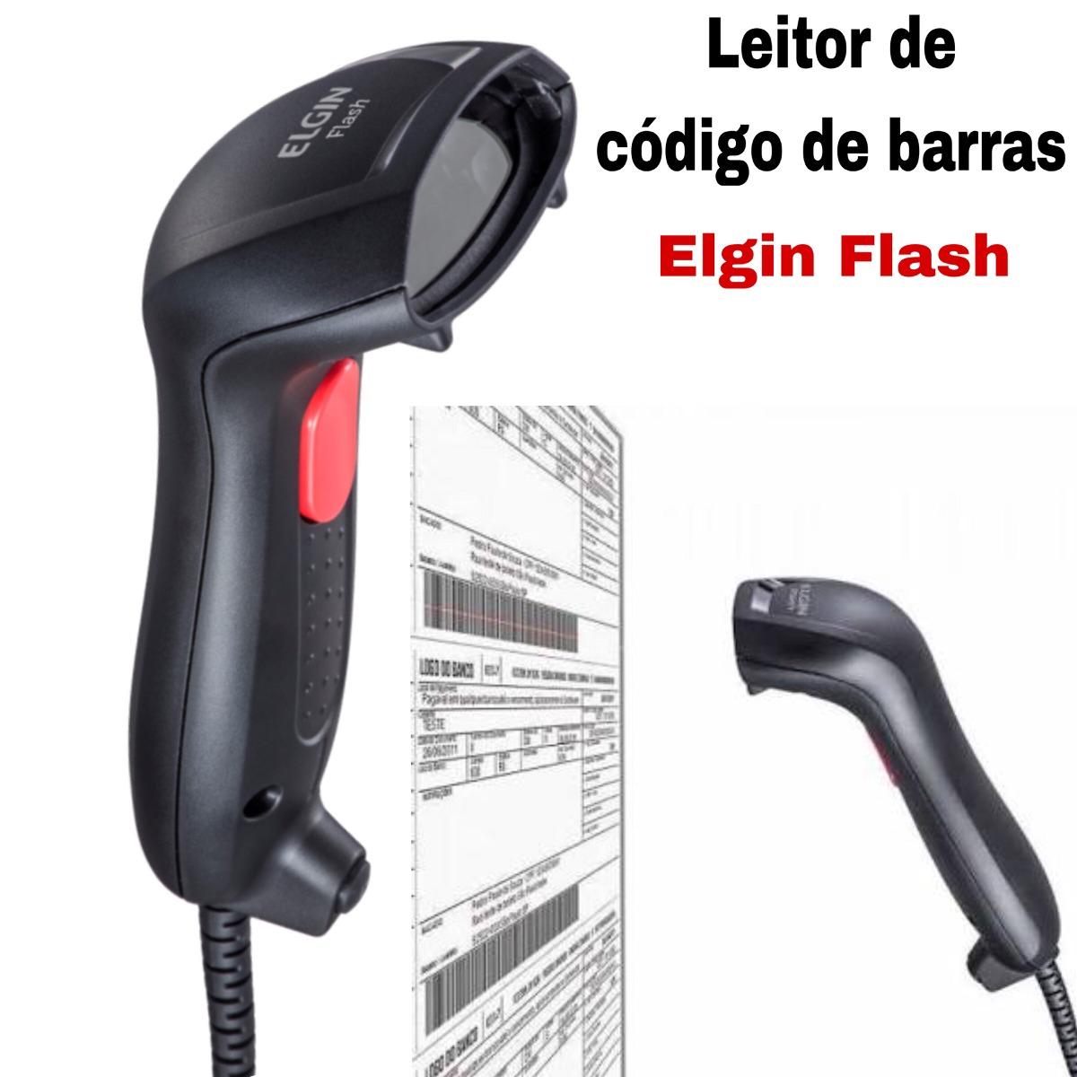 a385ba085 leitor de código de barra elgin flash. Carregando zoom.