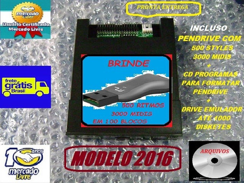 leitor drive emulador disquetes psr730 usb yamaha model 2017
