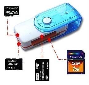 leitor e gravador cartão de memória usb pro duo sd m2 micro