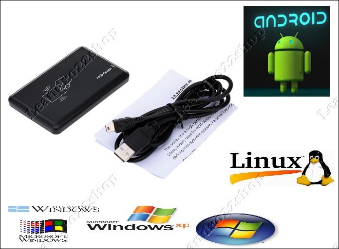 Leitor Rfid 13,56 Mhz Arduino Mifare , Nfc , Windows Android