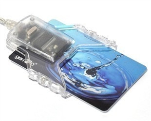 leitora cartão smart card certificado digital gem pc