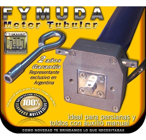 leloy / motor tubular fymuda ca40s - csi - auxilio manual