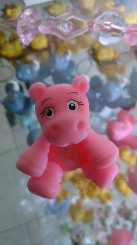 lembracinha bebê hipopotamo em biscuit safari 10 unidade