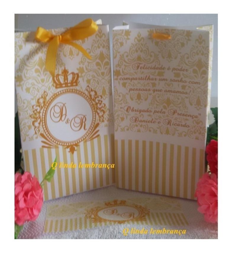 46e42936c Lembrança Casamento Kit 30 Und Toalha E Sacola - R$ 117,00 em ...