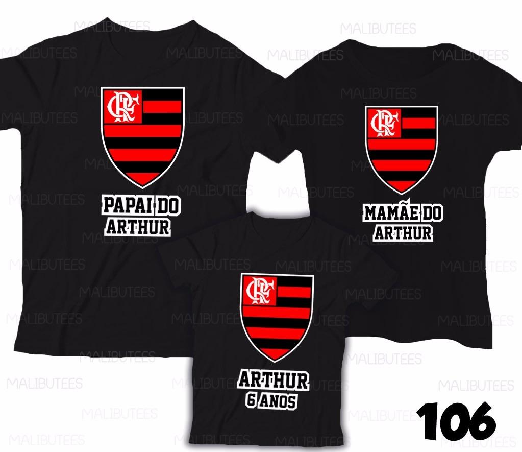 Lembrança De Aniversário Mengão Flamengo Camiseta Kit Com 4 - R  144 ... 9ee041dff87c5