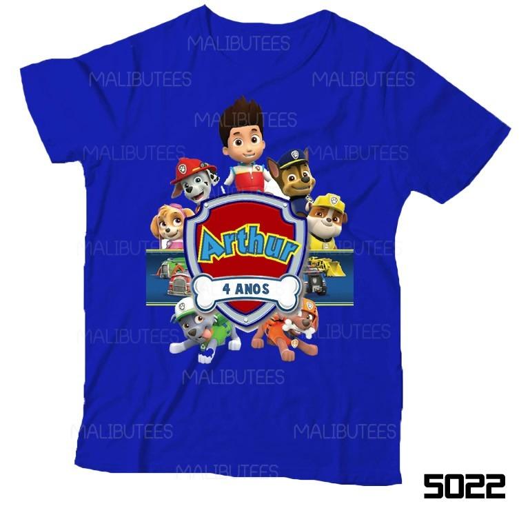 Lembran a de anivers rio patrulha canina camiseta infantil for Kit da 3 bay