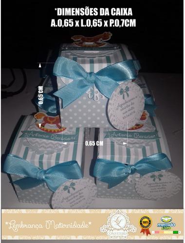 lembrança maternidade nascimento 30 unidades