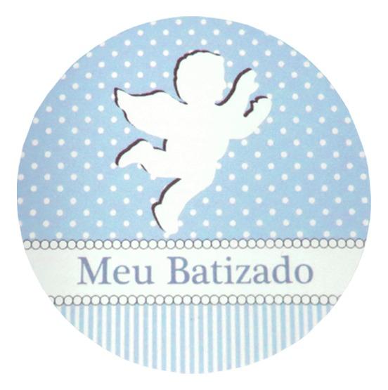 Feira Artesanal Vila Do Conde ~ Lembrancinha Batizado Menino 80 Latinha 80 Adesivo + Laços R$ 57,60 em Mercado Livre