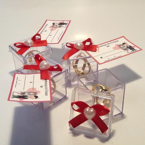lembrancinha casamento caixinha com alianças kit com 50