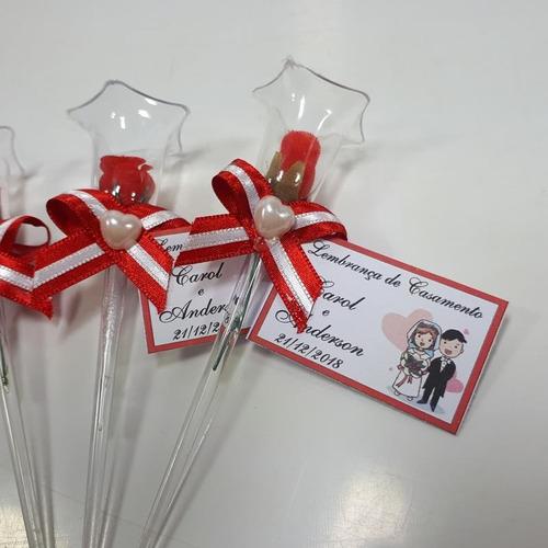 lembrancinha casamento rosinhas na tulipa - vermelho 100 und