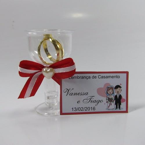 lembrancinha casamento tacinha com aliancinhas - kit com 60