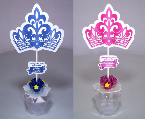 lembrancinha, centro de mesa coroa, festa 15 anos, princesa