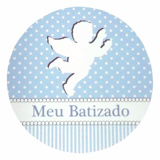 Artesanato Recife Antigo ~ Lembrancinha D Batizado Menino 20 Latinha 20 Adesivo 20 Laço R$ 12,95 em Mercado Livre