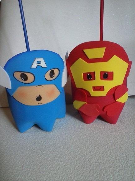 Lembrancinha Homem De Ferro / Heroes/ Vingadores Biscuit