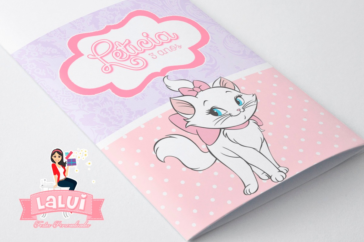 Lembrancinha Gatinha Marie Kit Colorir Personalizado R 66 00