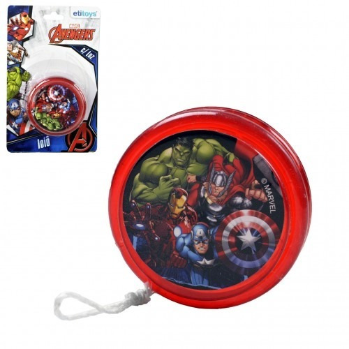 lembrancinha kit c/ 20 ioiô plast avengers c/luz